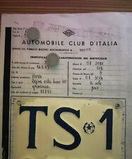 Targa Horex Regina Extra Lusso 350 no vespa lambretta Benelli Gilera Guzzi BSA