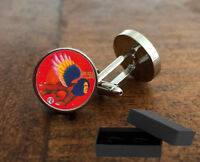 DAVID BOWIE - MAN WHO SOLD THE WORLD - CUFFLINKS - 3D  GLASS LENS FRONT - GIFT