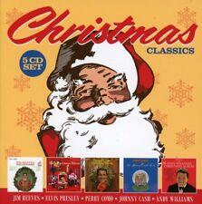 CHRISTMAS CLASSICS,ANDY WILLIAMS,JOHNNY CASH,PERRY COMO,ELVIS PRESLEY  5 CD NEW+