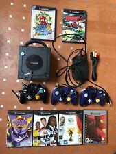 Nintendo GameCube Jet Schwarz Spielekonsole (PAL) mit Mario Spiel