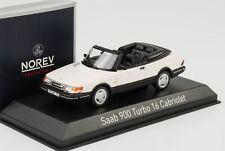 1992 Saab 900 Turbo 16 Cabrio Cabriolet weiss 1:43 Norev 810043