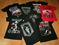lot 8 Small heavy metal concert t-shirts Ghost Town Aftershock Black Veil Brides