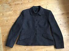 Magee Grey Wool/mohair/cashmere Tweed Jacket Size 10/12 Uk Irish Handmade
