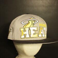 Miami Heat Hat Cap Snapback New Era Gray Yellow Adjustable NBA
