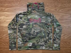 Under Armour Loose Coldgear Hunt Forest Camo Sweatshirt Women's L NWT $65.00