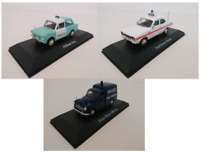 LOT DE 3 VOITURES POLICE ANGLAISE 1/43 ATLAS FORD HILLMAN MORRIS MODEL CAR