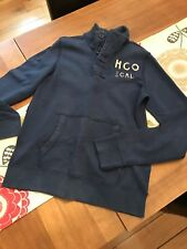 HOLLISTER SWEAT CASUAL HENLEY TOP - SIZE MEDIUM