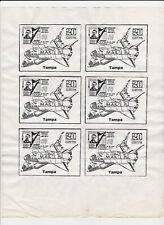 Harry Fox Tampa Kunst Post 1980s Mail Art Layout Sheet 20 Grit Shuttle Atistamps