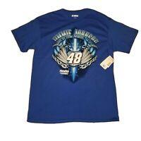 Nascar Car Racing 48 Jimmie Johnson Men's Sz Large L Lowe's Blue Shirt NWT