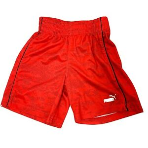 Puma 2T Pull Up Red And Black Athletic Shorts