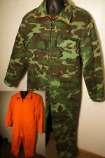 Vintage Sears Insulated Reversible Woodland Camo Blaze Safety Coveralls Suit p9