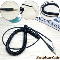 Replacement DJ Headphone Cable Spring Audio Cord Plug For Sony MDR-V6 MDR-7506