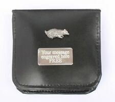 Badger Cleaning Polish Shoe Clean Brushes Personalised ENGRAVING Wildlife Gift