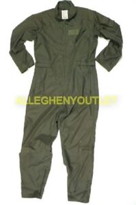 US Military Nomex Flyers Flight Suit Coveralls Sage CWU-27P USAF Ghostbusters VG