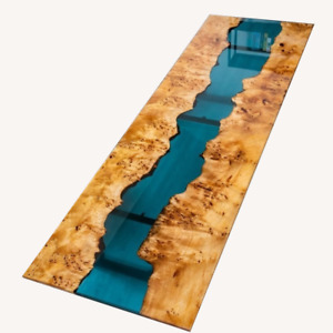 Blue River Decorative Dining,Living Garden Wooden Walnut Table Epoxy Furniture