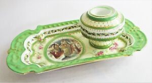 Stunning & Rare Limoges Pen Tray & Integrated Ink Well. Empress Josephine 1804