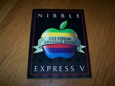 """NIBBLE EXPRESS VOLUME V """"PROGRAMS FOR THE APPLE"""" BOOK COPYRIGHT 1985 MICRO-SPARC"""