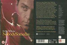 RARE / DVD - ROBBIE WILLIAMS : NOBODY SOMEDAY ( DOCUMENTAIRE )