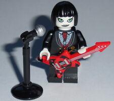 MUSICIAN Lego Female Goth / Punk Rocker w/Microphone & Guitar Genuine Lego parts