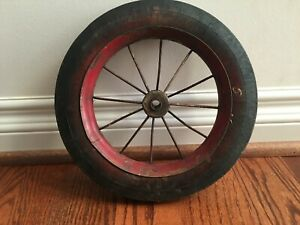 Vintage Wire Rim WHEEL for Wagon Tricycle Cart Antique Riding Toy