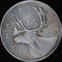 1938 XF+ Canada Silver 25 Cents - KM# 35 - JG