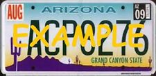 HO 1:87 MONSTER LICENSE PLATES UP 1996+ ARIZONA VEHICLE CARS TRUCKS HIGHWAY PATR