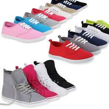 Damen Sneakers Freizeit Stoffschuhe 99500 Trendfarben Gr. 36-41 Schuhe