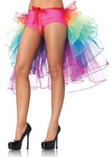 Ladies Rainbow Bustle Petticoat RaRa Rave Party Tutu Skirt LGBT Fancy Dress