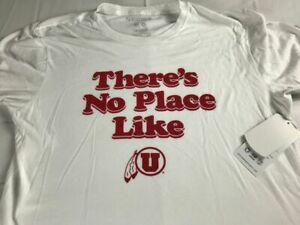 There's No Place Like Utah Utes T-Shirt Adult SZ M/L NEW Student Alumni USA Made