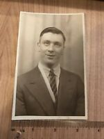 Vintage Postcard Real Photograph Social History. Portrait Of Man.
