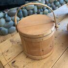 Shaker Style Wood Bucket With Wood Handel 9  X 12