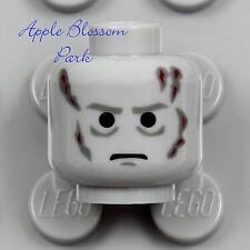 NEW Lego DARTH VADER MINIFIG HEAD -Light Gray Zombie Death Scars 10188 Star Wars
