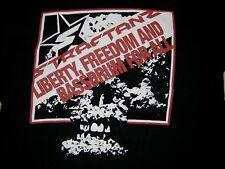INDUSTRIAL SHIRTS.COM STRAFTANZ LIBERTY FREEDOM  MEN'S BLACK T SHIRT SIZE XL