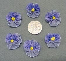 PANSY FLOWERS -  Made of Blue Ribbon - PKT 6