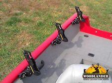 4x ROD HOLDER TRACKER BOAT VERSATRACK + CANNON HOLDER INSTALLED - FREE SHIPPING