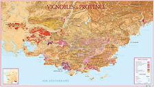 Carte du Vignoble de Provence - POSTER