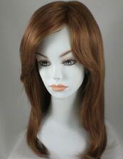 Long Strawberry Blond/Auburn Straight Hair Wig w/Bangs