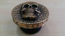 Harley gas cap, skull, handmade, brass