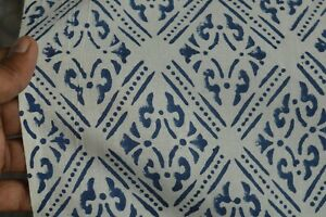 New Indian Cotton HandBlock 100% Print Handmade 10 Yard Sanganeri Floral Fabric*