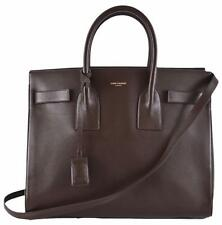 New Yves Saint Laurent YSL Brown Leather Sac de Jour Small Handbag Purse W/Strap