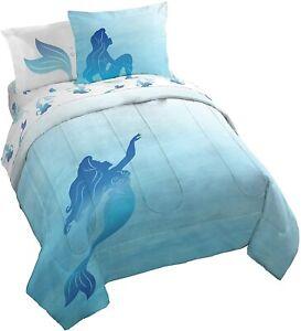 The Little Mermaid Jewel Girl's Queen Comforter, Sheets & Shams- 7 Piece Bedding