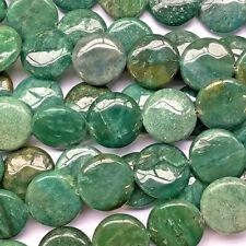 Aventurine 20mm Green Coin Circle Semi Precious Stone Beads Q10 Beads per Pkg