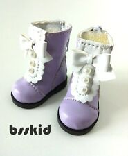 "BJD Yo-SD 1/6 Dollfie 13"" Effner 12"" Kish Doll Shoes LANVENDER Boot Pearl Lolita"