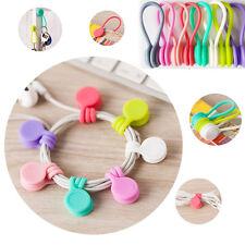 9pcs Magnetic Headphone  Earphone Cord Winder Wrap Organizer Cable Ties Holder