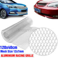 Universal Silver Grille Mesh Cover Aluminium Racing Car Tuning Grill Net