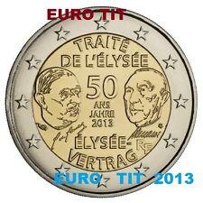 2 €   FRANCE    2013  TRAITE DE L'  ELYSEE  1  X   PIECE    DISPONIBLE