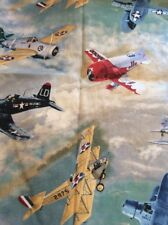 Vintage Airplane Window Valance Handcrafted Free Shipping
