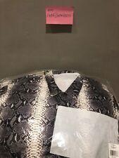 Supreme X The North Face Pelle di Serpente cucitura nastrata Allenatori Giacca Nero grande in mano