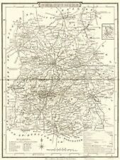 SHROPSHIRE. County map. Polling places. Coach roads. DUGDALE 1845 old