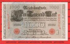 (58) KN. 0083767 F Udr. J Ros.45 c 1000 Reichsmark 1910 Germany UNC Pick 44